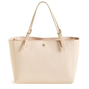 Tory Burch Light Pink Leather Saffiano York Purse